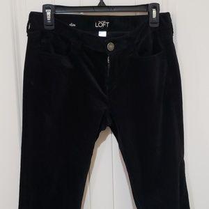 Ann Taylor LOFT brushed velour modern slim pant